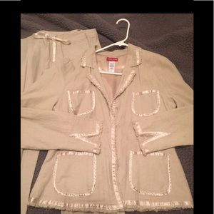 Guess linen pants suit L